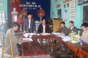 Ban Mặt trận thôn hàng ngày đến làm việc tại nhà văn hóa được quy định cụ thể trong hương ước của thôn Yên (Kim Truy - Kim Bôi).